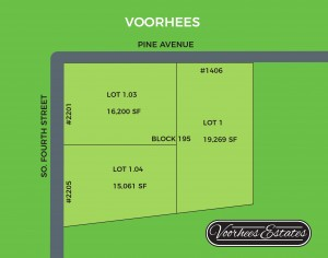Voorhees Estates lot plan